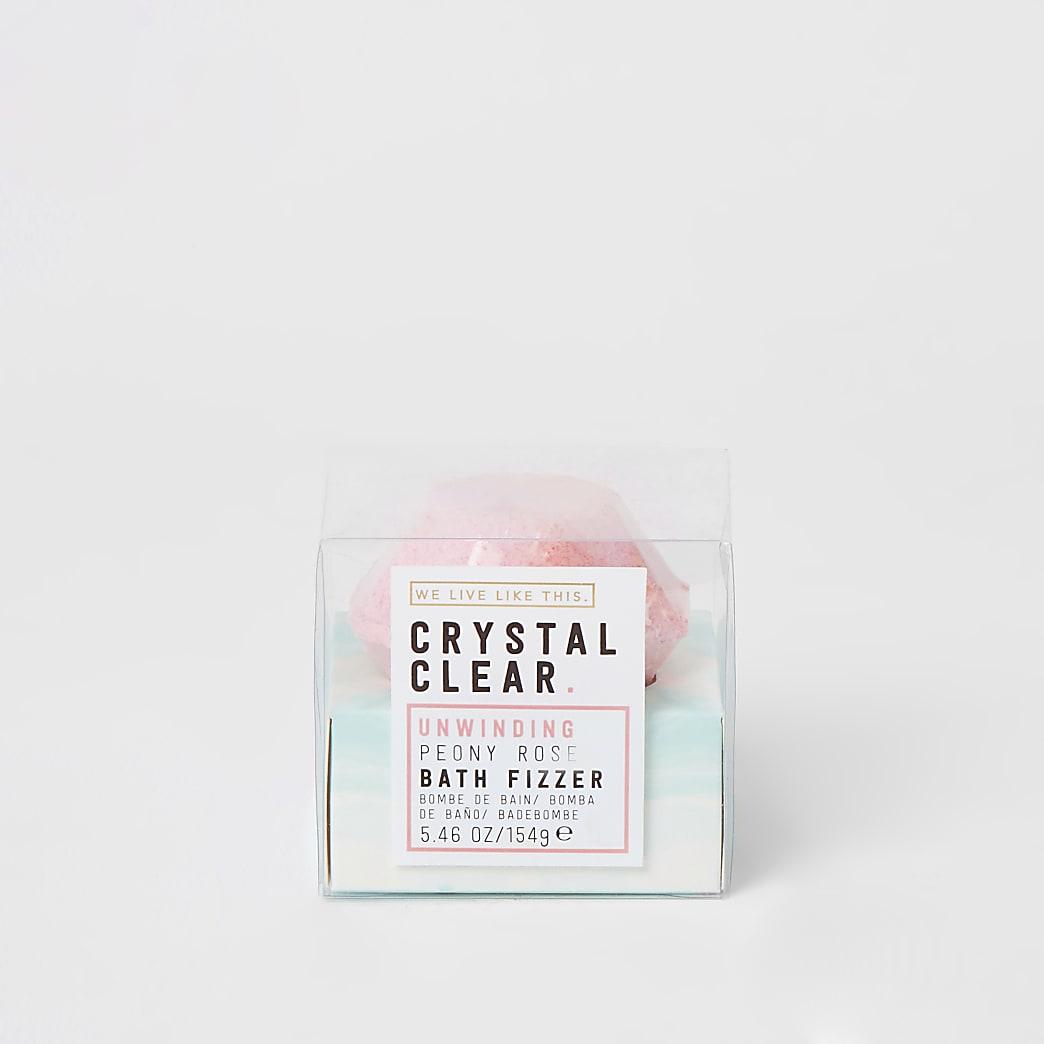 Boule de bain effervescente bijou rose pivoine Crystal clear