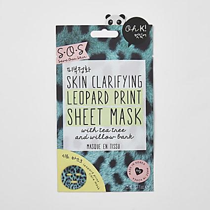 Skin clarifying leopard print sheet mask