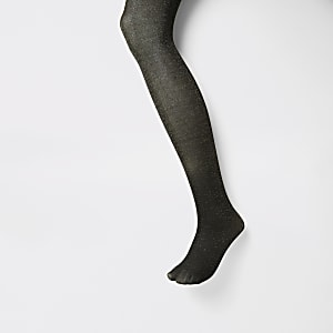 Collants noirs ornés de paillettes dorées