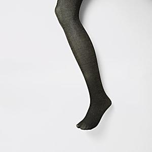 Zwarte panty verfraaid met goudkleurige glitters