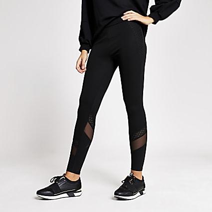 Black mesh fishnet leggings