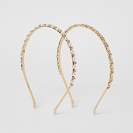 Gold embellished headband 2 pack