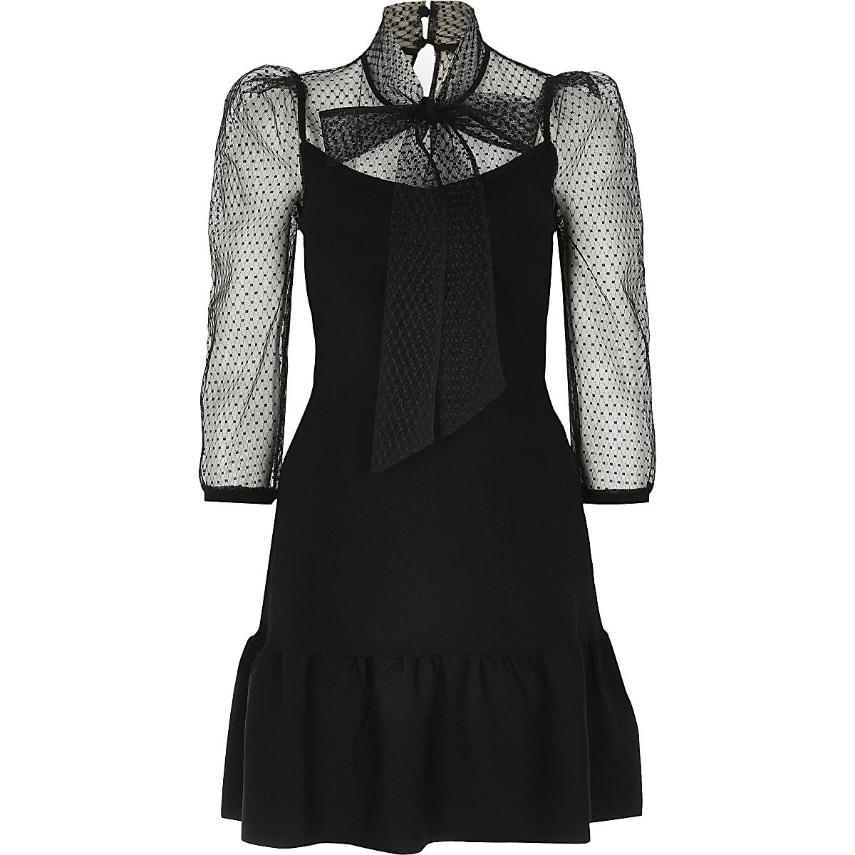 Bow Tie Mini Dress