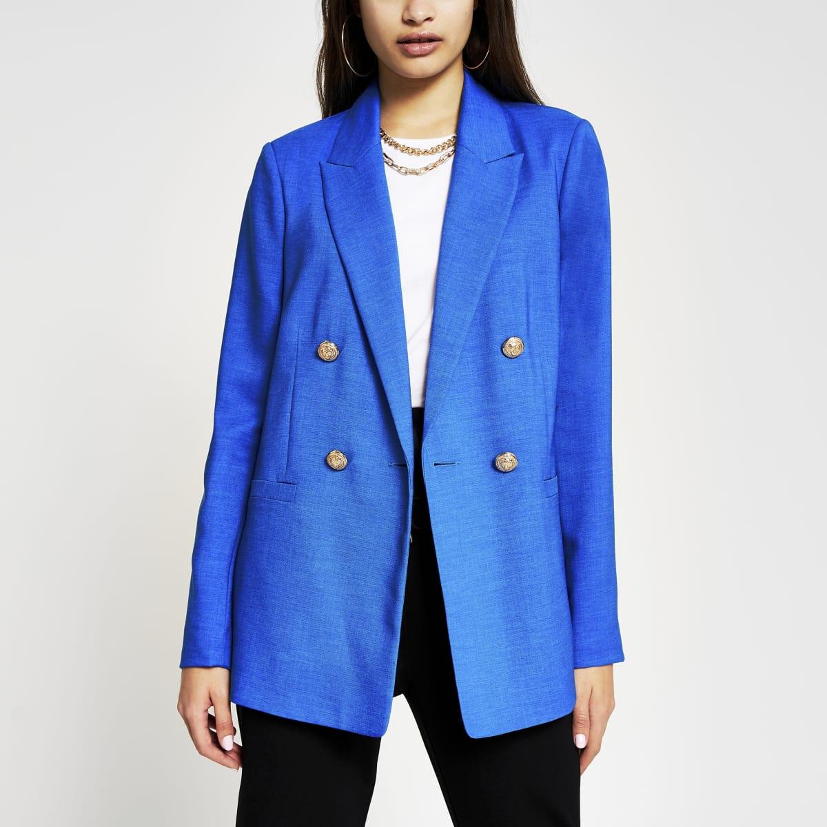 Blazer bleu croisé