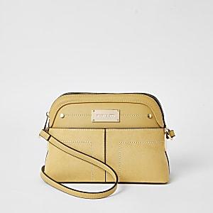 Yellow pocket front cross body bag