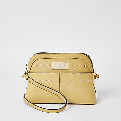 Yellow pocket front cross body bag