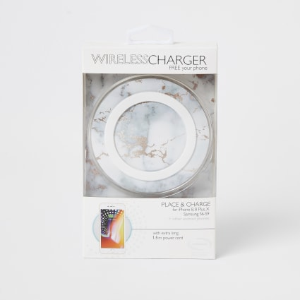 White marble wireless charger