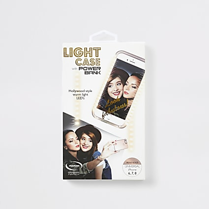 Rose Gold light up selfie phone case