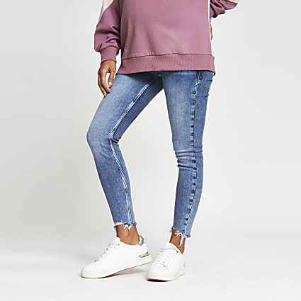 Blue Amelie overbump maternity skinny jeans