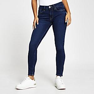 RI Petite- Denim Amelie skinny jeans met halfhoge taille