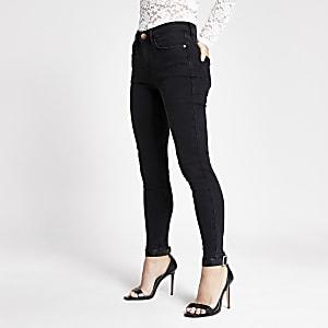 Petite – Amelie – Schwarze Superskinny Jeans