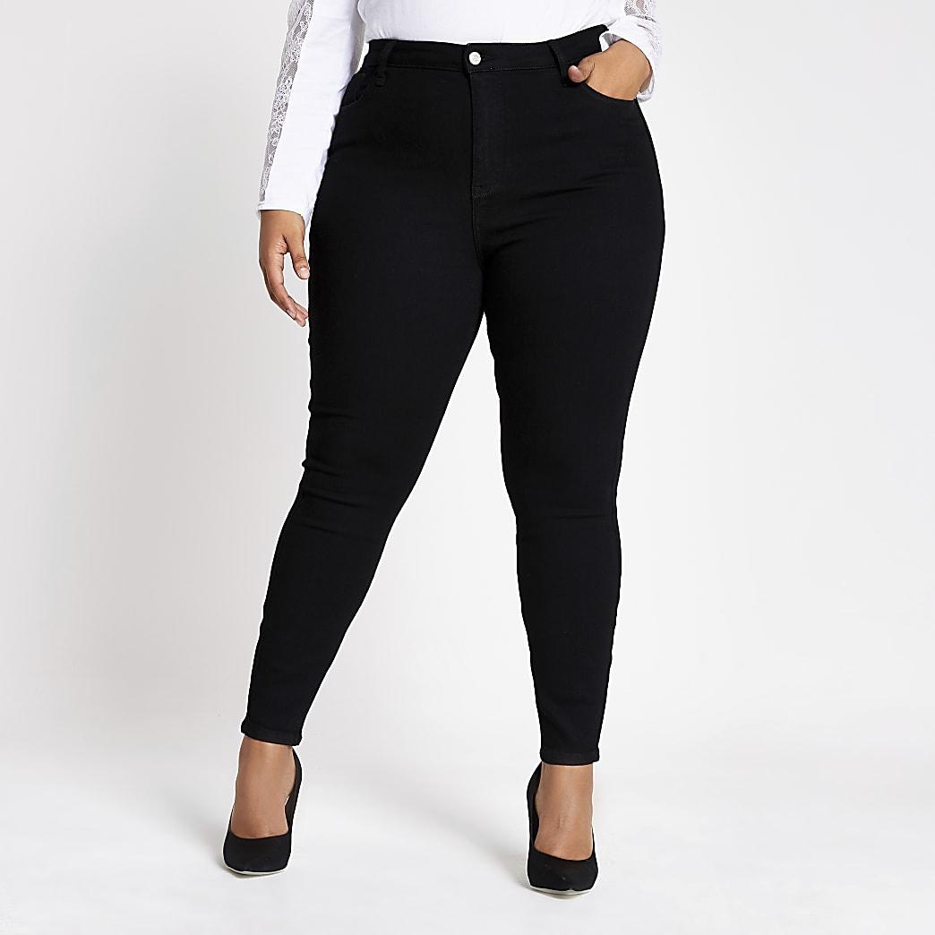RI Plus - Hailey - Zwarte high rise jeans
