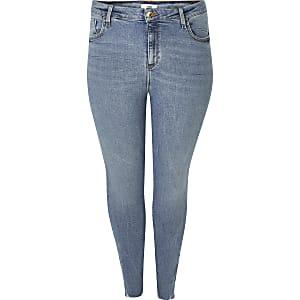 Plus– Super Skinny Jeans in Blau von Amelie
