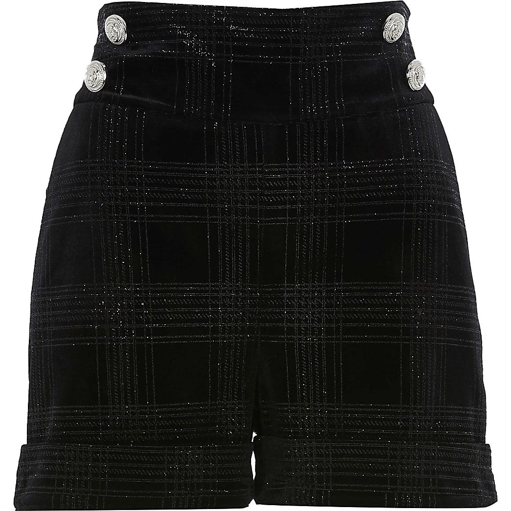 black glitter shorts