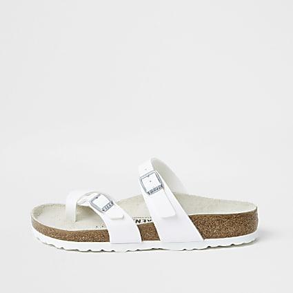 Birkenstock white Mayari thong sandals