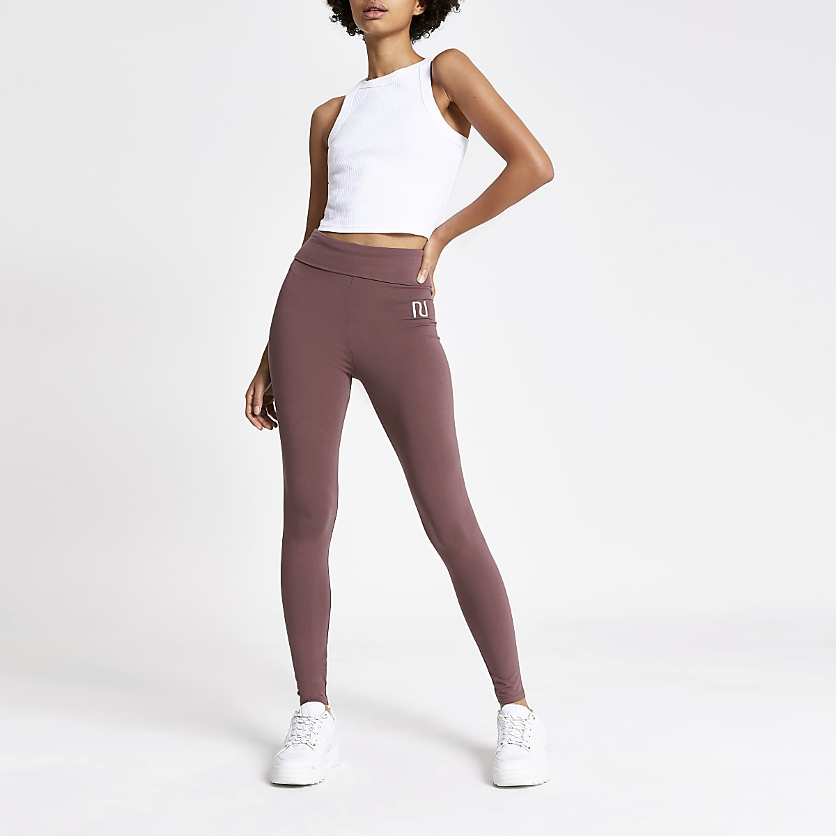 Dark pink RI high waisted leggings