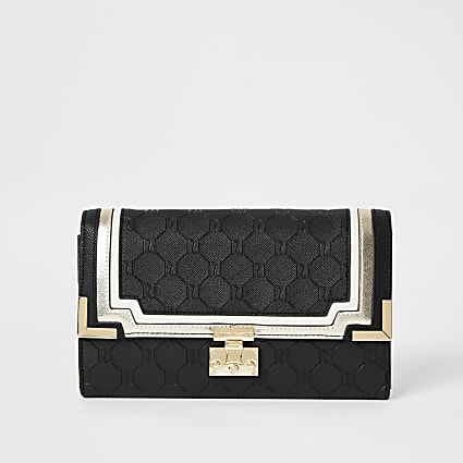 Black RI embossed travel wallet