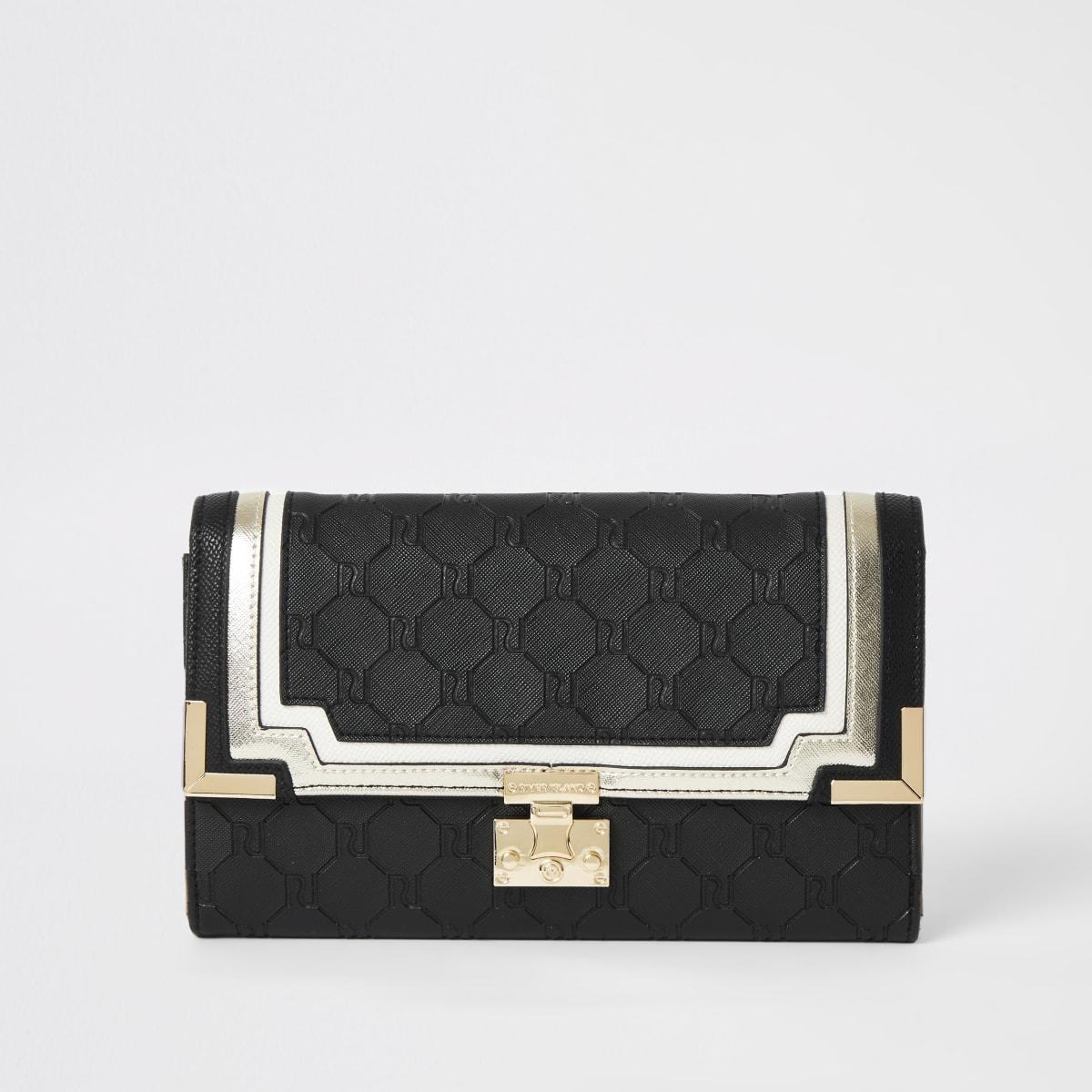Black RI embossed travel wallet