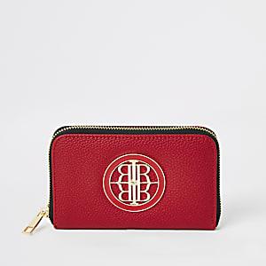 Mini portefeuille rouge RIzippé