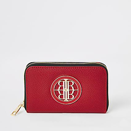 Red RI zip around mini purse