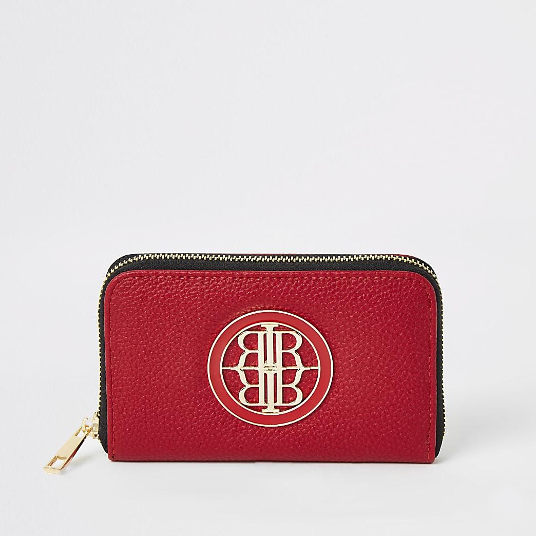 Rode mini RI-portemonnee met rits rondom
