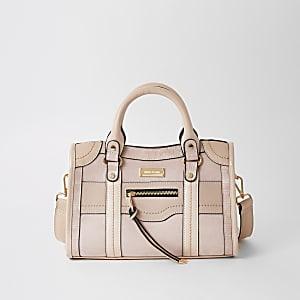 Tote Bag zum Umhängen mit Nieten in Pink