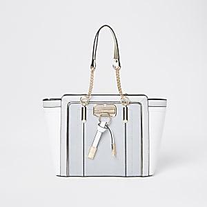 Graue, ausgestellte RI-Shopper-Tote Bag