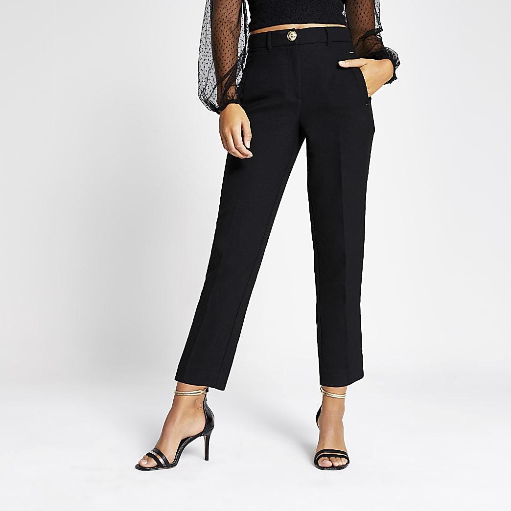 Black cigarette trousers