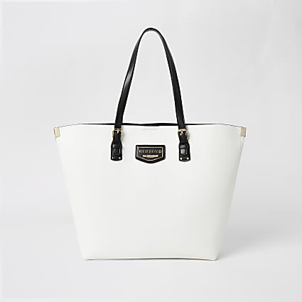 White metal corner RI shopper bag