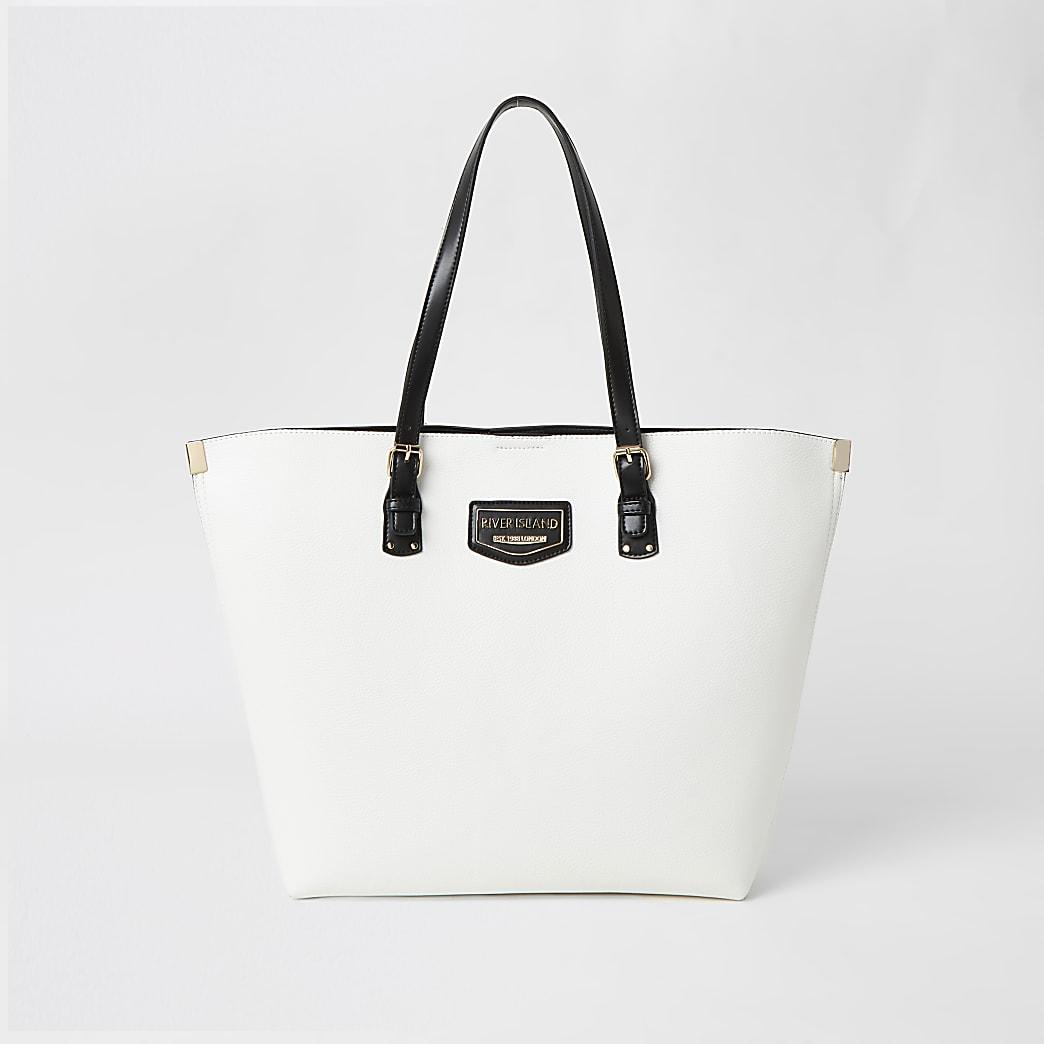 White metal corner RI shopper bag