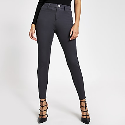 Dark grey Molly mid rise trousers
