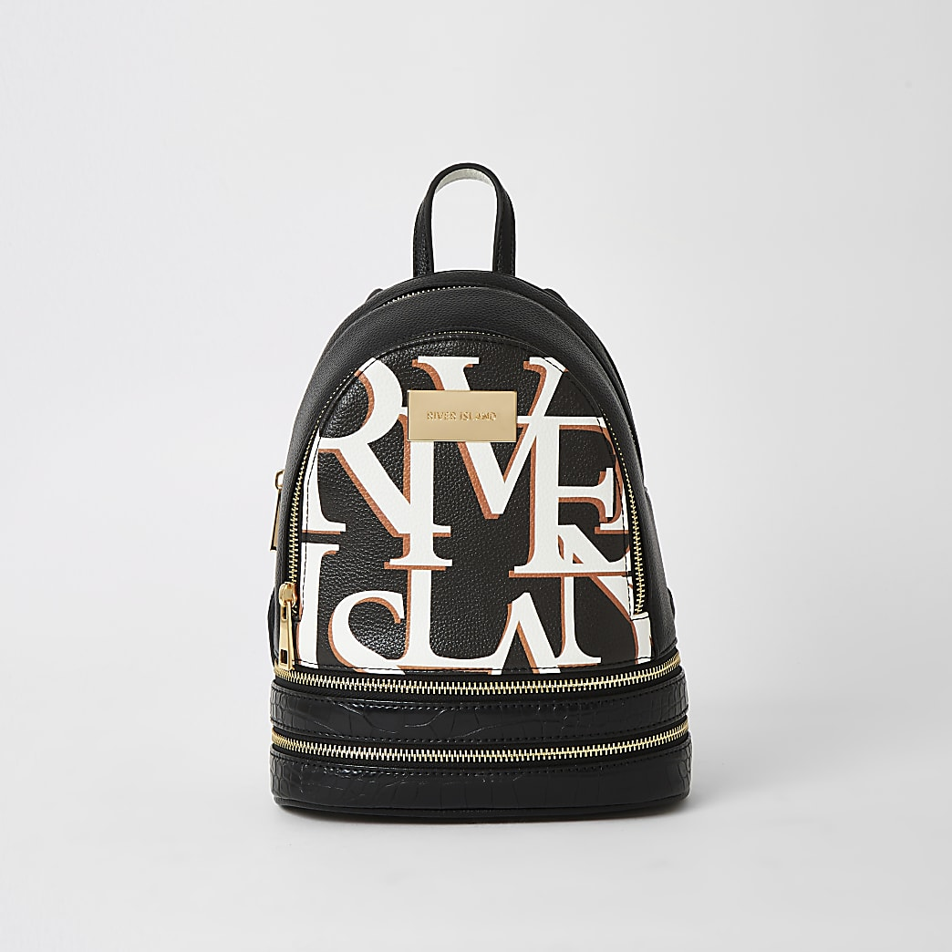 Black 'River' mini backpack