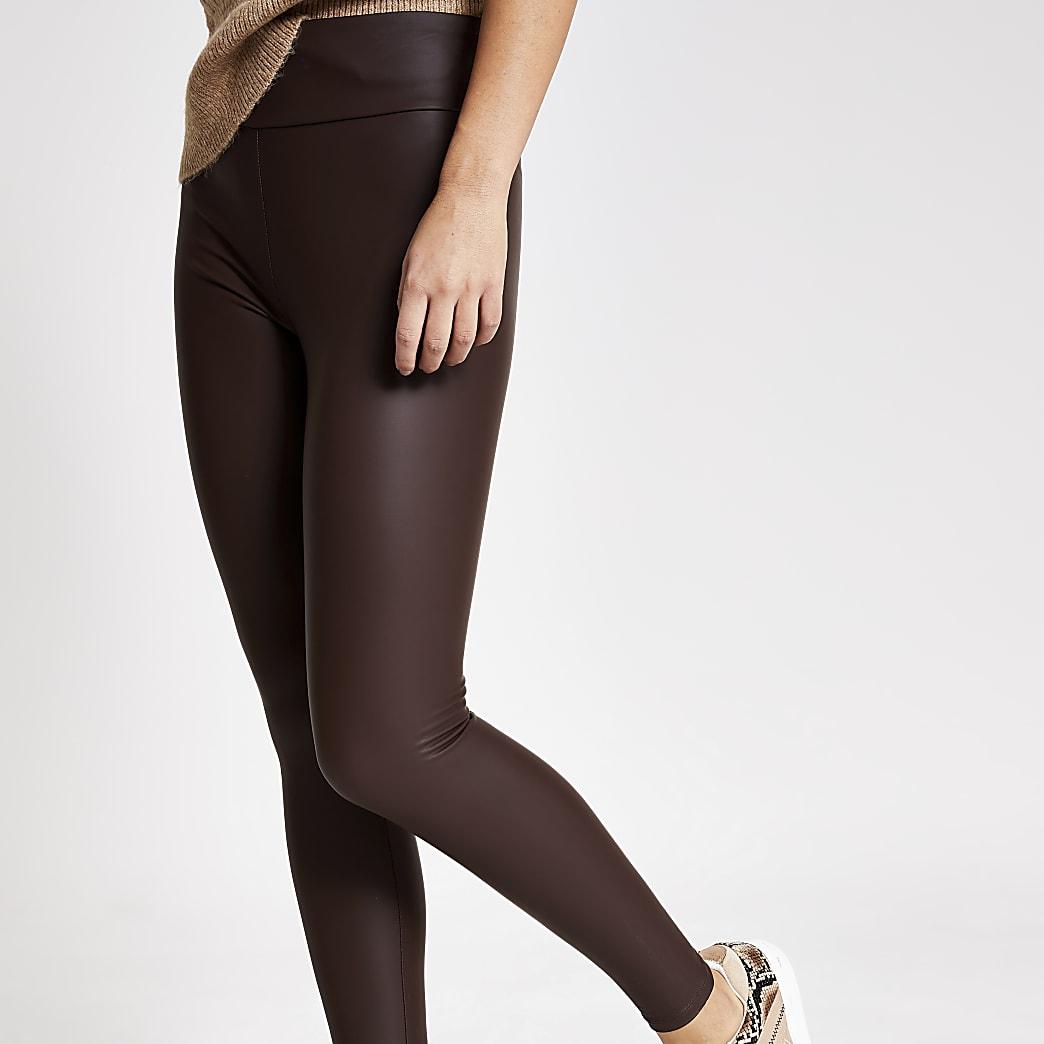 Donkerrode legging met matte coating