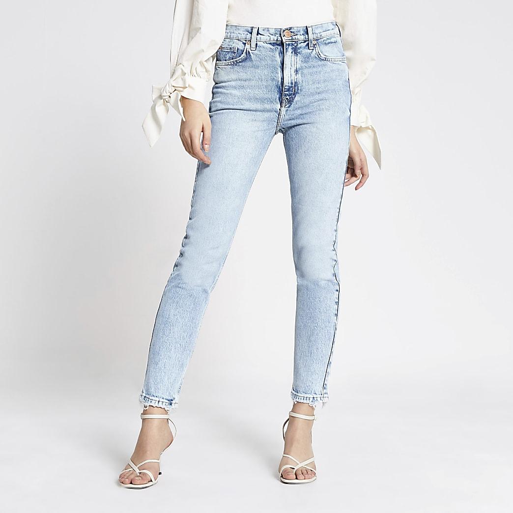 Light blue Brooke high rise slim jeans