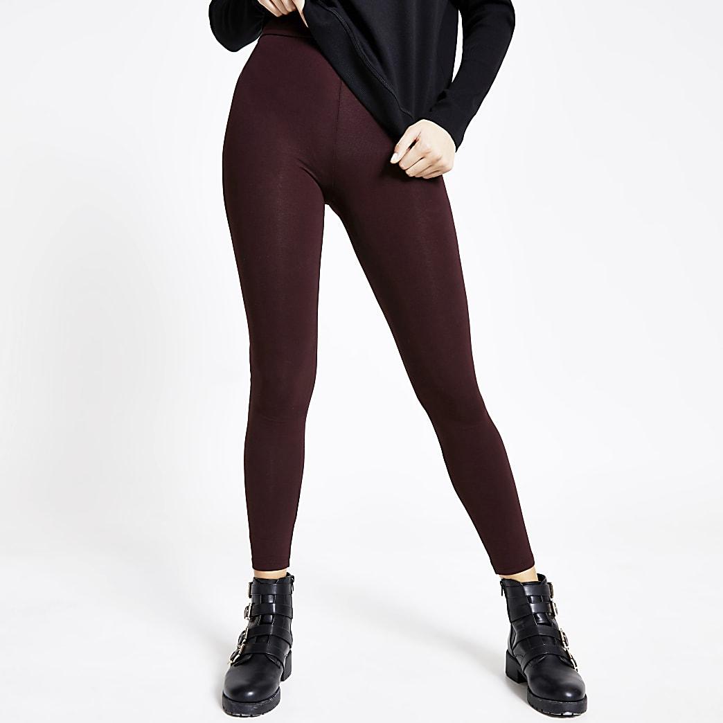 Dark purple cotton leggings