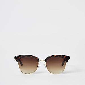 Bruine tortoise retro-zonnebril