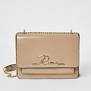 "Pinke Satchel-Lacktasche ""River"""