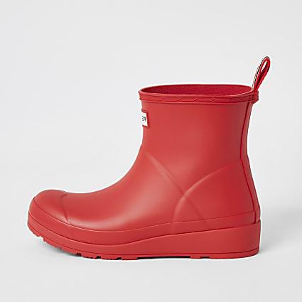 Hunter Original red short wellington boots