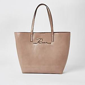 Roze lakleren 'River' shopperhandtas