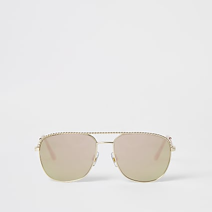 Gold rope detail mirrors sunglasses