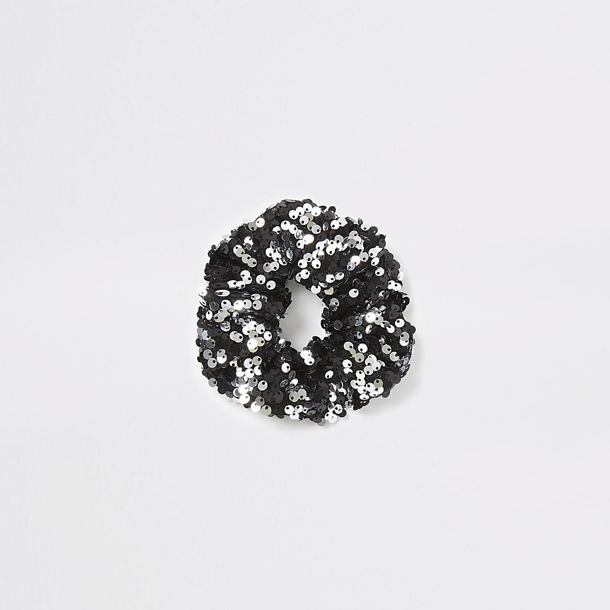 Black sequin scrunchie
