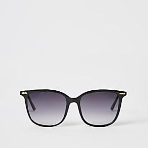 Schwarze Sonnenbrille mit D-Rahmen