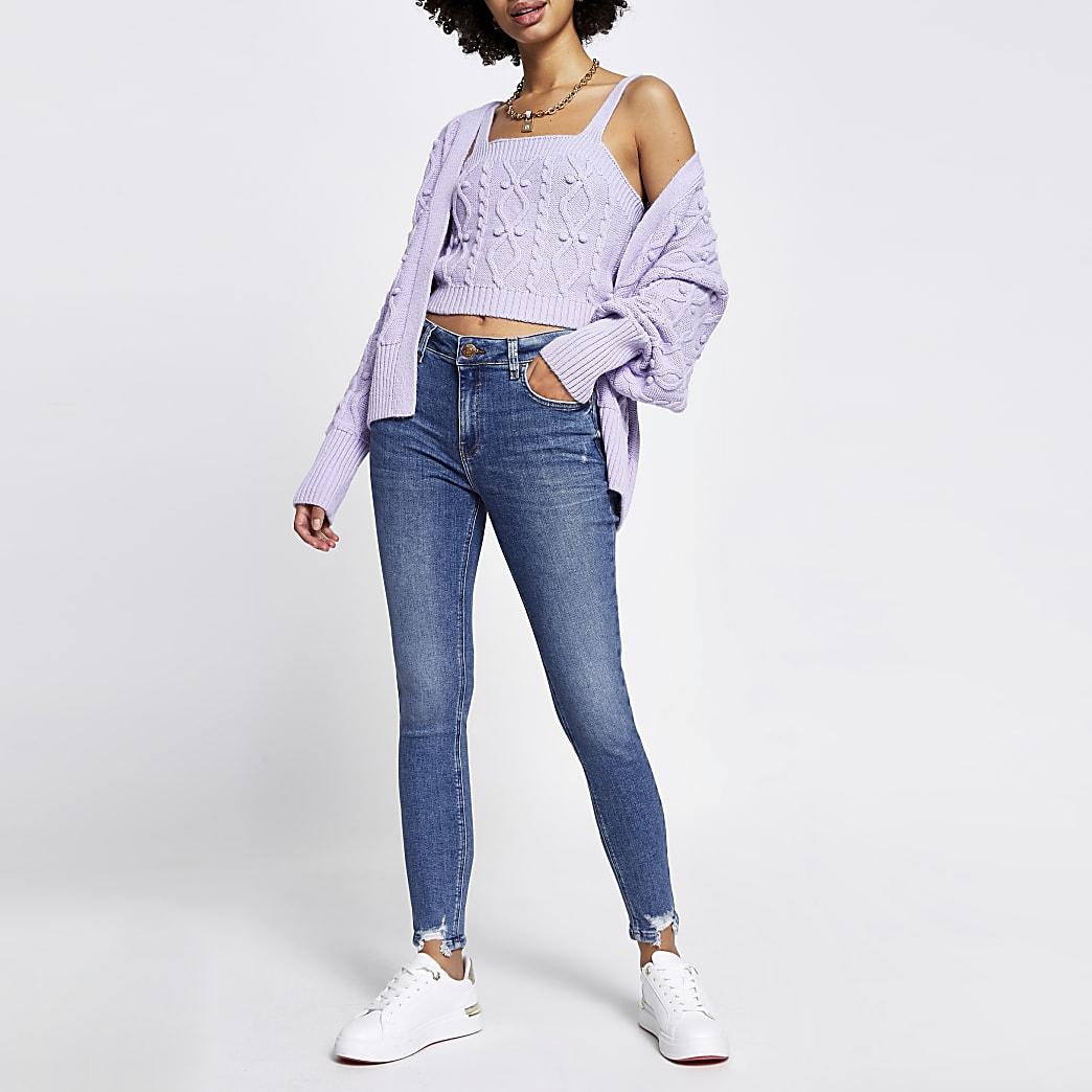 Amelie blauwe superskinny jeans