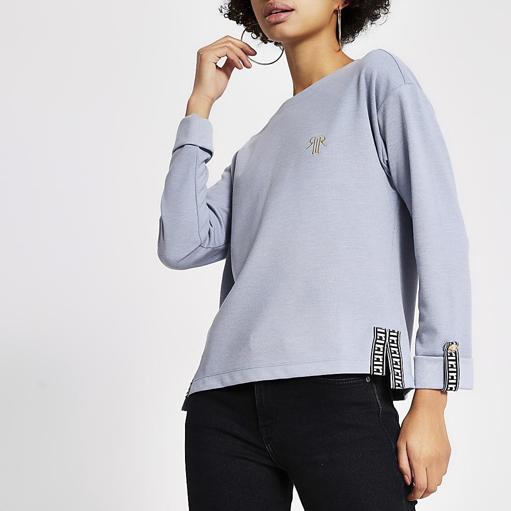 Blue RI tape long sleeve sweatshirt