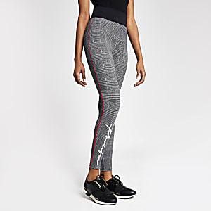 Pantalons de jogging ajustésProlific noirsà carreaux