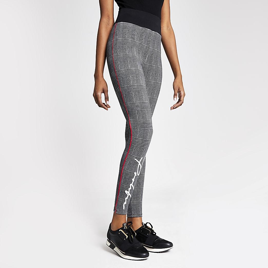 Prolific - Zwarte geruite fitted joggingbroek