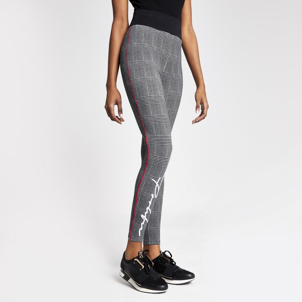 Prolific – Pantalons de jogging ajustés noirsà carreaux