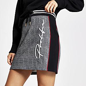 Mini-jupe ajustéeProlificnoireà carreaux
