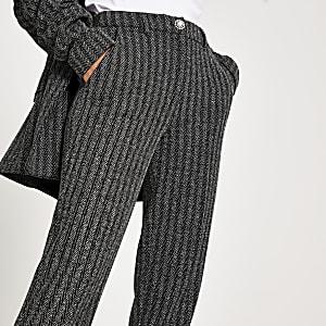Pantalon cigarette grisà chevrons