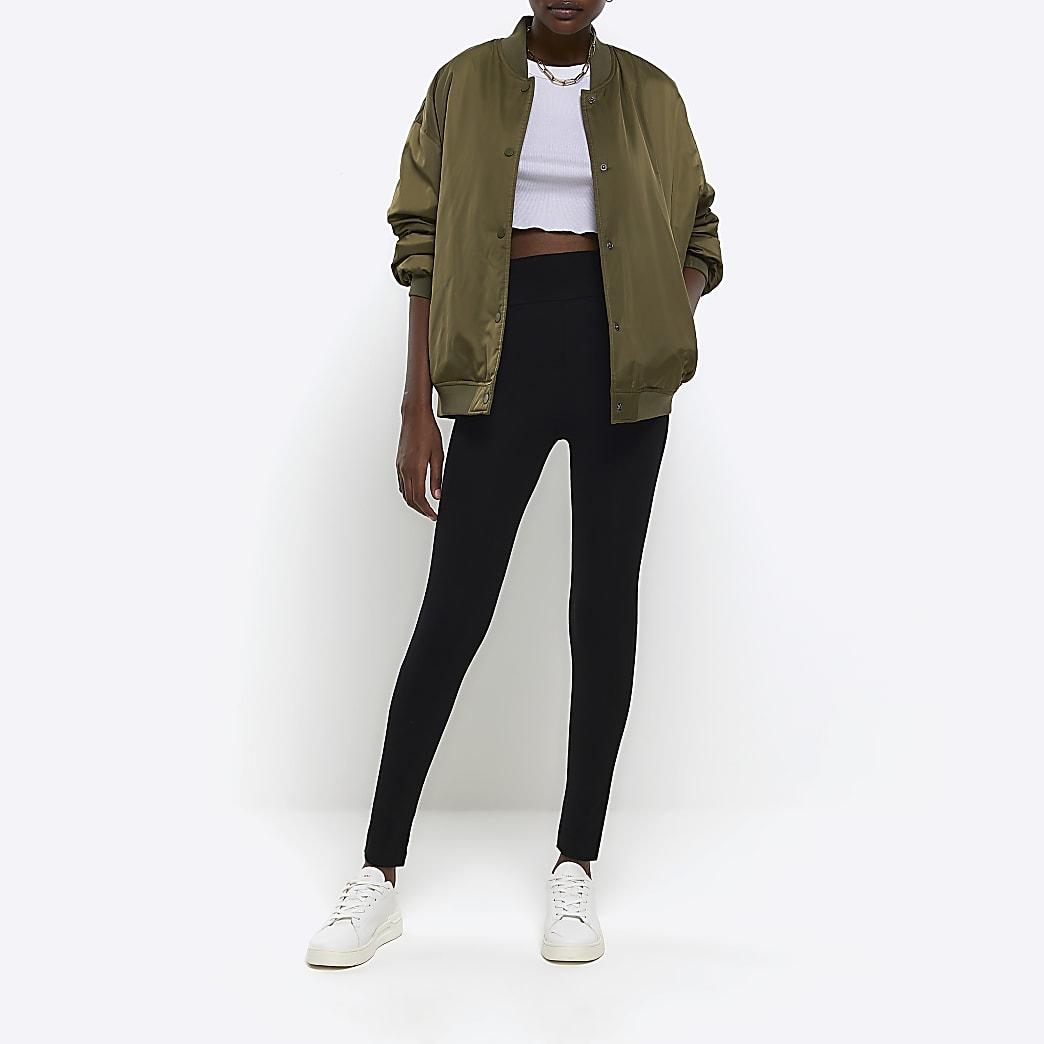 Zwarte legging met hoge taille